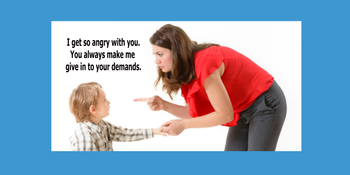 When kids misbehave, don't blame them for your reaction!